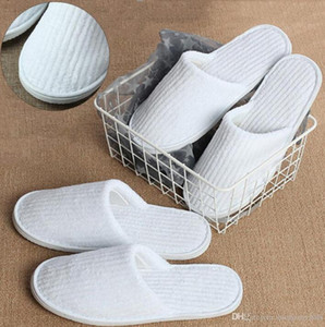 Disposable Slippers Coral Fleece Anti-slip Home Guest Shoes Thicken Travel Hotel White Supply Soft Delicate Disposable Slippers EWC4051