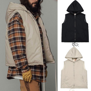 Fear of God Hooded Nylon Vest FOG 6th Oversized Padded Vest Jacket Autumn Winter Vests for Men Women Hip Hop Streetwear