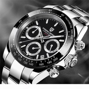 PAGANI DESIGN Men Watch Chronograph Multifunctional Stainless Steel Business Quartz Wristwatch Relogio Masculino VK63