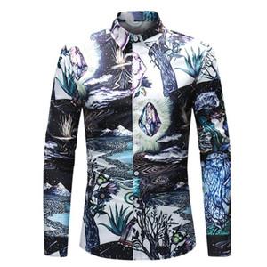 Autumn Mens Fall Shirt Blouse Casual Long Sleeve Beach Top Loose Casual Men Slim Fit Shirt Men Linen Blouse Chemises Homme
