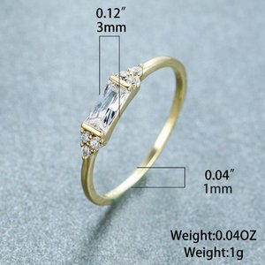 Women's ring new product gold-plated inlaid diamond gem fashion luxury high-grade quality rings sell well for women's rings NO54#
