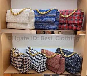 Classico designer di lusso nabi donne borse a tracolla lettera lettera catena geometrica bicolore crochet lady borse da frizione