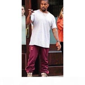Wholesale- Kanye west Season 4 Crewneck Sweatpants S-3XL CALABASAS Pants Men loose Joggers Comfortable Men Elastic Pants Hip Hop