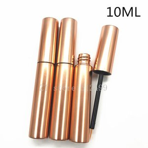 10ml Eyeliner Tube Cosmetic Empty Eyelashes Tube Mascara Eyeliner Vials Bottle Makeup Rose Gold Container with Brush Plugs