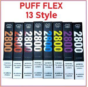 Puff Flex Einweg-Vape-Stift mit 1500mAh-Batterie 10ml-Pod-Patrone 2800 Puffs Puff Bars leerer Dampf vs Puff Plus Onee Plus