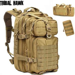 50L военные штурмовые сумки армии тактические молла рюкзак открытый туризм кемпинг охотничий рюкзак камуфляж водонепроницаемый trekking pack y200920