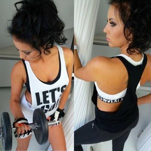Female Casual Vest Sleeveless Backless Sport Shirt Women Running Gym Shirt Women Sport Letter Fitness Tank Top