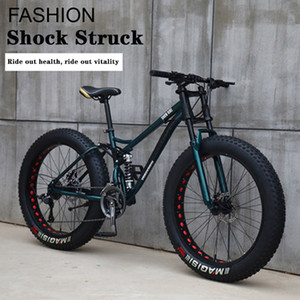 26 Inch High Carton Steel Fat Tire Bike 21 with Disc Brake
