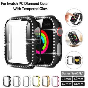 Алмазный бампер защитный ПК Крышка для Apple Watch Series 6 SE 5 4 3 2 1 1 38 мм 42 мм Чехол для iWatch 44mm 40 мм 6 5 4 3 2 1 Смотреть аксессуары для часов