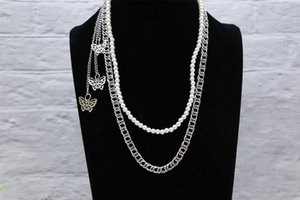 Fashion Multilayer Metal Pearl Trouser Hip Hop Cool Accessories Waist Chain