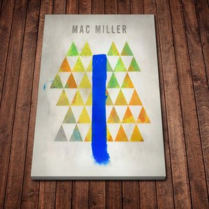 Modern Canvas Painting Abstract Album Mac Miller Blue Slide Park Posters Prints Wall Art Picture for Living Room Home