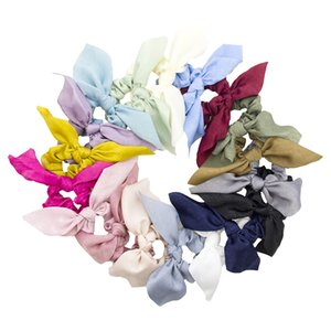wholesale Women Rabbit Ear Scrunchie Knot Elastic Band Girl Ponytail Holder Ring Rope Fashion Hair Accessories