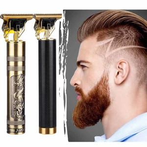 Мужчины Беспроводные стрижки для волос Clipper Парикмахерская Professional Buddha Dragon Electric Electric Election Machite Beard Beathing Hair Trimermer Укладки Kit Q1204