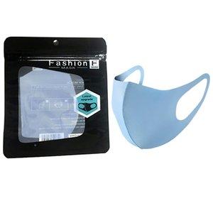 Best Buth Ice Lavabile Maschera viso I singoli filtri regalo nero Pacchetto anti polvere PM2.5 Respiratore antipolvere anti-batterico riutilizzabile sacchetti di seta riutilizzabili