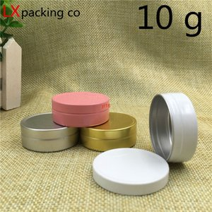 fast shippingFree Shipping 10g gold Silver Aluminum Pink White Empty Bottle Jar Cream Eye Gel Lip Pomade Cosmetic Containers 100 pcs