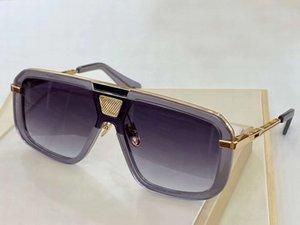 Shield Sunglasses Eight 400 Gold Grey Frame Gray Gradient Design Glasses des lunettes de soleil unisex sunglasses with Box