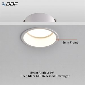 [DBF]Round Deep Glare Recessed Downlight Dimmable 5W 7W 12W 15W LED Ceiling Spot Light for Home Porch Corridor Aisle Background Q1121