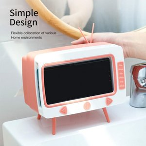 Cute Tissue Box Multifunctional Storage Creative Paper Pumping Phone Holder Paper Storage Box Dustproof Household TV Shape