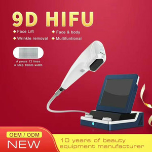 New 9D hifu face lifting device skin lift body shaping machine catridges skin lift machine 12 lines each shots DHL free shipping