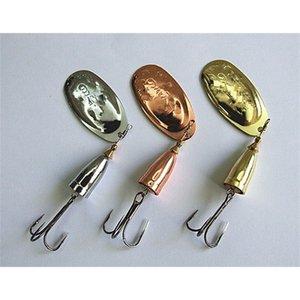 0 # -6 # 낚시 루어 스피너 미끼 금속 미끼 벨 모양의 황동 컵 구리, 실버, 골드 컬러 201104