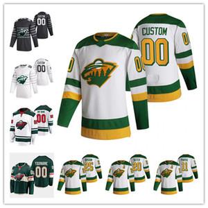 Zach Parise Minnesota Wild 2021 Reverse Retro Cam Talbot Ryan Suter Devan Dubnyk Galchenyuk Johansson Bonino Fiala Kaprizov Hockey Jersey