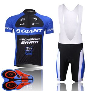 GIANT Team Classical Men's Cycling Jersey Set Short Sleeve Bicycle shirt With Bib Shorts suit Quick-Dry MTB bike Clothing Y103008