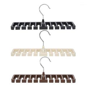 New Plastic Tie Belt Scarf Organizer Closet Wardrobe Space Saver Hanger For Men Women Clothing with Metal Hook Belt Storage1