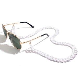 Chaîne de lunettes acryliques multicolores léopoldes pour la lecture de femmes Eyewears Accessoires Lunettes de soleil Chaîne Chaîne Porte-cordon Strap Rope H Jllfxx