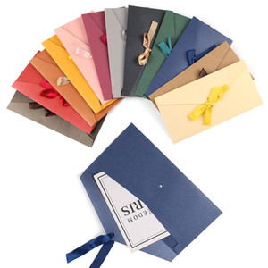 Beautiful Classic Retro Multicolor tie Pearl paper envelopes on Kraft for wedding invitation gift envelope Greeting Card Bag