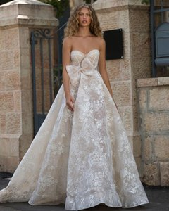 Elegant Boho Wedding Dresses 2021 Sweetheart Lace Applique Undefined Beach Bridal Gowns Robe De Soirée De Mariage