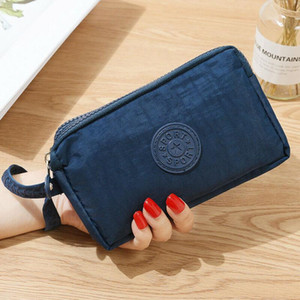 Canvas Modis Women Small Wallet Brief 3 Zippers Clutch Coin Phone Card Holder Bag Short Purse Wallet Ladies Handbag Mini