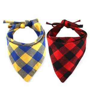 dog triangle bandanas adjustable pet dog cat neck scarf tie bowtie necktie bandana collar neckerchief dog accessories plaid scarf z3nX5