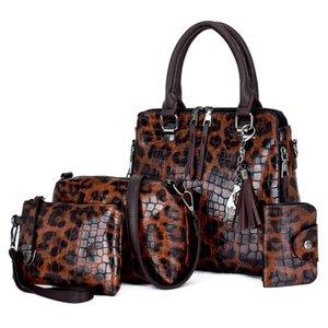 Shoulder Handbags And Female Wholesale Messenger Designer Women's Piece New - Luxurys Versatile Leopard Print 4 Crossbody Bags Simple B Xgsp