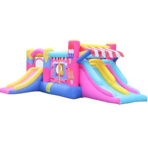 Jardim suplemo doméstico gelado inflável gelado de bouncer castelo jumper casa bouncy com 750w ventilador para crianças jardins divertido festa jogar jogos