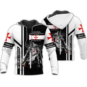 Tessffel Knight Templier Armor Streetwear Streetwear Harajuku Funny Former costume 3DPrint Rits / Truien / Pull / Jas / Men / Femmes S7