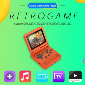 Retro Flip Handheld Console Rechargeable Portable Mini Video Game Player Multi-functional Gaming Funny Accessaries