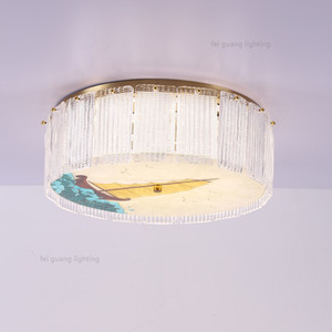 Modern K9 crystal ceiling lamp bedroom study balcony creative light  simple round modern Crystal Ceiling Light Fixture