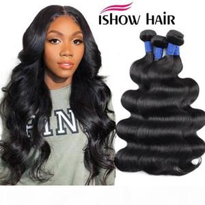 Ishow 8-38inch 10A Mink Brazillian Straight Body Loose Deep Wave Kinky Curly Unprocessed Brazilian Peruvian Indian Human Hair Weave Bundles