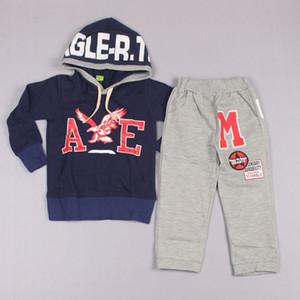 Clearance sale Fashion Long Trousers Printed Hoodie Sweatshirts Activewear Pants Children Set Kids Suit Outfits Z247