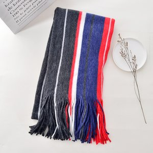 Winter Thermal Cashmere Lengthen Scarves Top Selling Long 210*50cm Stripes Tassels Thick and Warm High Quality Comfortable Wearing