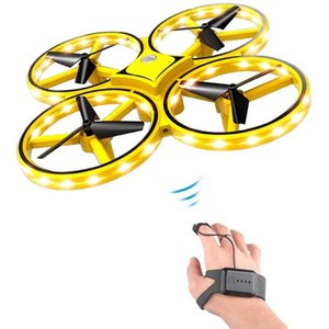 RC Mini Quadcopter Induction Drone Smart Watch Remote Sensing Gesture Aircraft UFO Hand Control Drone Helicopter for Kid