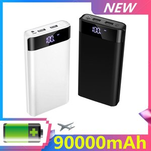 High capacity 90000mAh Power Bank USB Type Portable Charger External Battery 5V 2.1A With LED Display For Phones Tablet