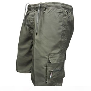 Men's Multi Pocket Cargo Casual Cotton Knee Length Military Men Loose Army Tactical Shorts Homme Summer Sweatpants C19041901
