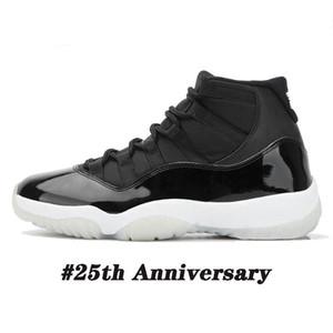 Sconto di Natale Nuovo 25 ° anniversario Uomo Scarpe da basket 11 11s Eyelets Silver Eyelets Mens Trainer DONNA DONNA Sneakers sportive all'aperto Dimensioni 36-47