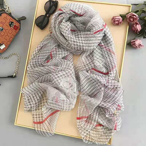 High quality 2020 Fashion autumn and winter brand silk scarves timeless classic, super long shawl fashion women's soft silk scarves