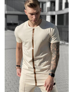 Summer 2020 Male T Shirt Silk Silk Tshirt O-Neck Short Jogging Mens Shirts T Shirts Sik Shirt Men T-shirt Tops Tees