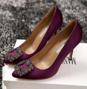 2020 nouvelles chaussures Cendrillon strass talons hauts femmes pompes pointues orteil féminin de femme de mariage de mariage 6cm / 8cm / 10cm