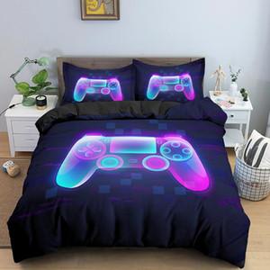 Fashion 2 3 Pcs Gamer Duvet Cover Cartoon King Queen Single Bedding Sets Kids Boys Girls Bed Set Game Quilt Comforter Covers