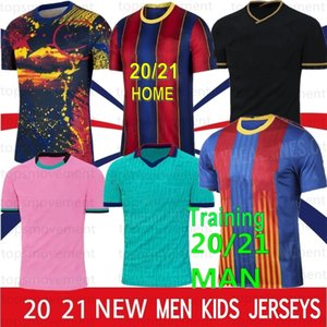 10 Messi 20 21 Mailoots de Футбол Футбол Футбол Джерси 17 Griezmann F. de Jong Pique Suarez Dembele Cuotinho Men Kids Kit Training 2021