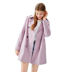 Semir kruvaze kadın klasik siper ayrılabilir kayış rüzgarlık ceket sonbahar için